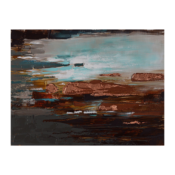 Painting Rock Pools Print Artwork Stretched Wood Frame