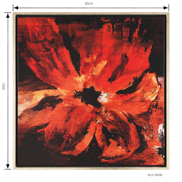 Painting Lava Bouquet 1 Print Artwork Stretched Wood Frame with dimensions