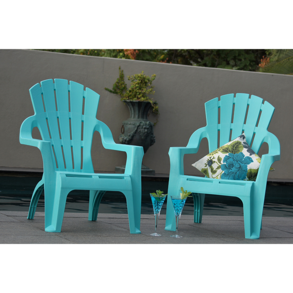 set of 4 aqua adirondack chairs made from pu/plastic