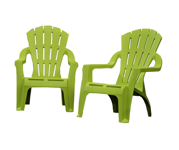 SET 8 Chair Adirondack Replica Italia Deck Lounge Pool Plastic Outdoor Garden Lime