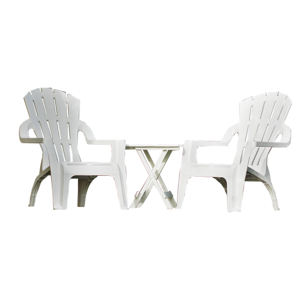 Chair Adirondack Replica Italia Deck Lounge Pool Plastic Outdoor Garden White SET 4