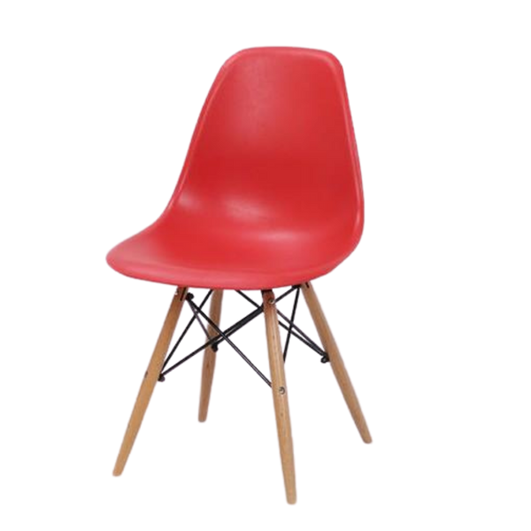 Chair Replica Eames Eiffel Red Cafe Kitchen Dining