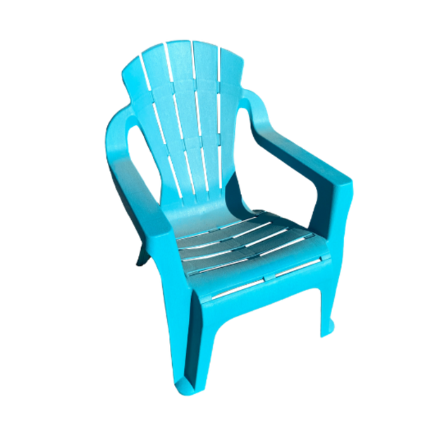 Replica adirondack kids chair, made from PU/Plastic in aqua