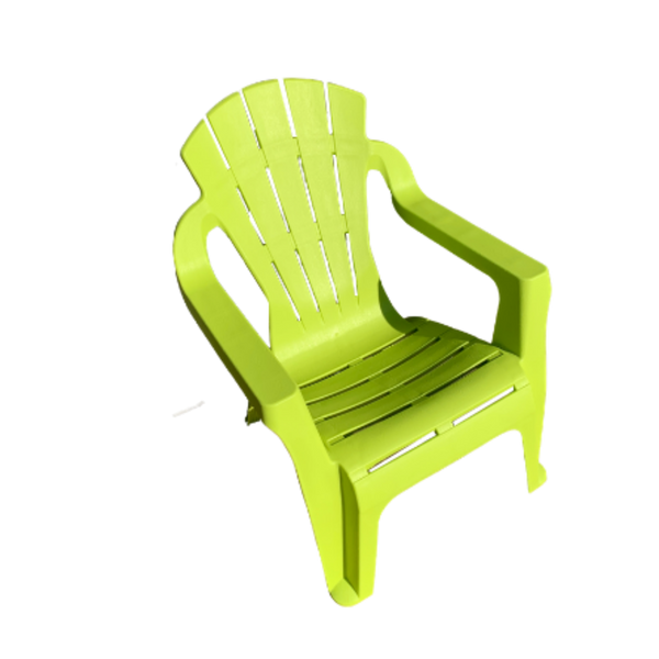 Replica adirondack kids chair, made from PU/Plastic in lime