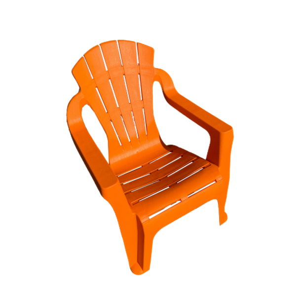 Replica adirondack kids chair, made from PU/Plastic in orange