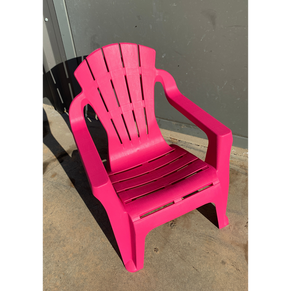 Replica adirondack kids chair, made from PU/Plastic in pink