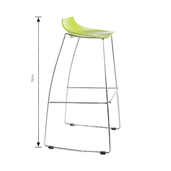 jacob bar stool lime green with measurements