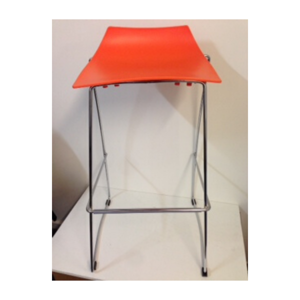 Jacob Bar stool in orange