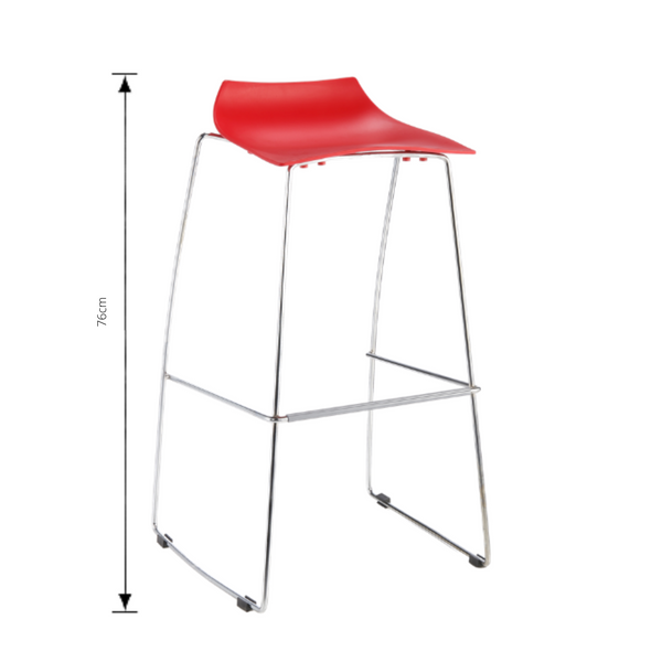 Bar Stool - Jacob Red