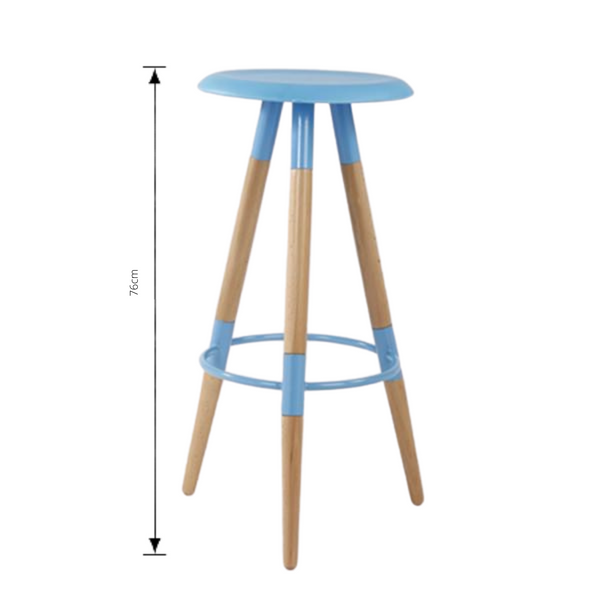 Bar Stool in aqua with measurements