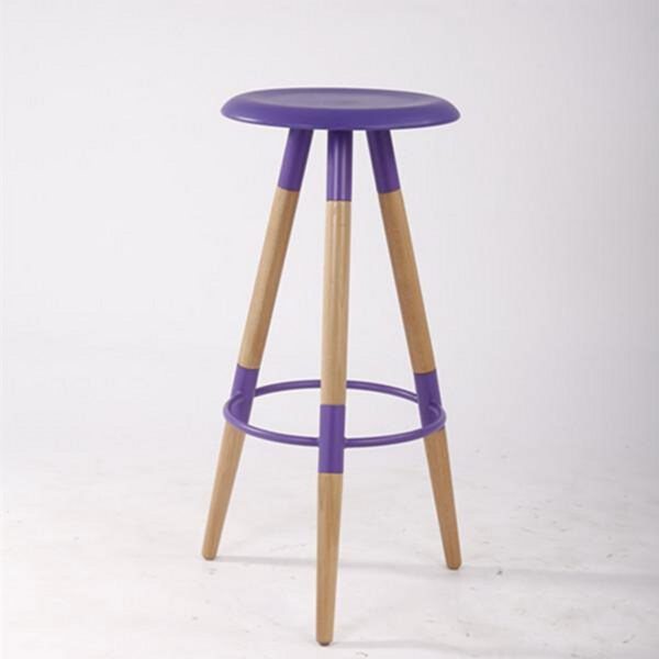 Bar Stool - UFO in purple
