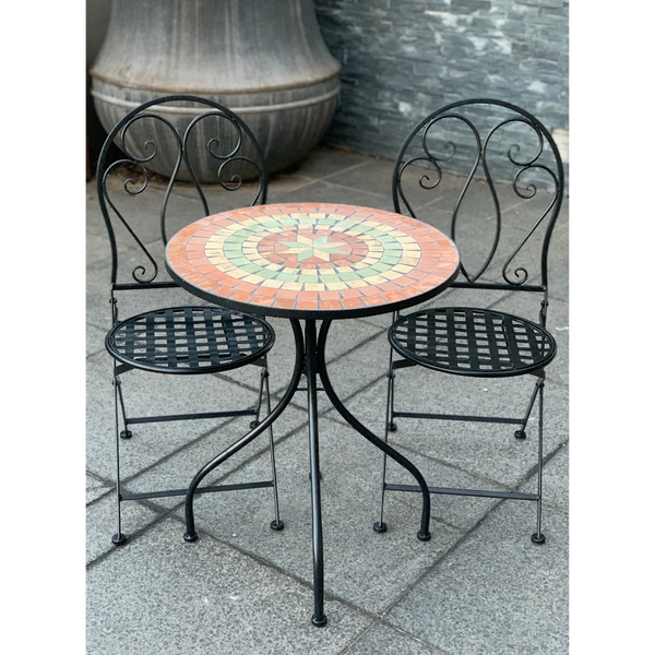 Patio Setting - Mosaic Capri, Metal 3 Piece Outdoor Setting in the grden