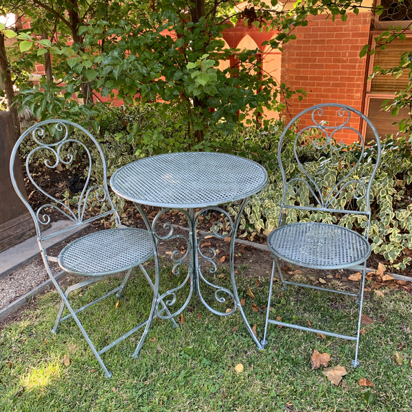 Patio Setting - Chloe, Verdi, Metal 3 Piece Garden Setting in the garden
