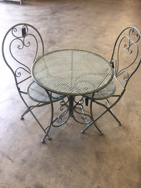 Patio Setting - Chloe, Verdi, Metal 3 Piece Garden Setting