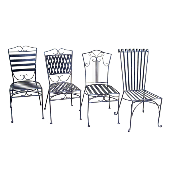 Wrought Iron Dining chairs- Dinner, Oxford, Sophie, Emily