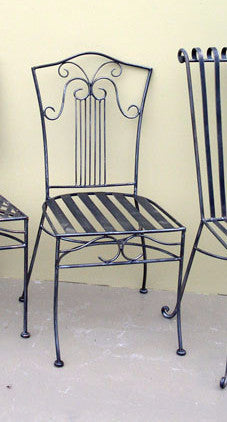 Outdoor dining chair, Sophie  style, wrought iron