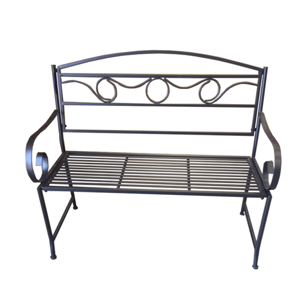 Outdoor Black metal Eden garden bench