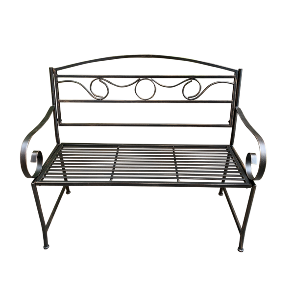 Outdoor Black/Bronze metal Eden garden bench