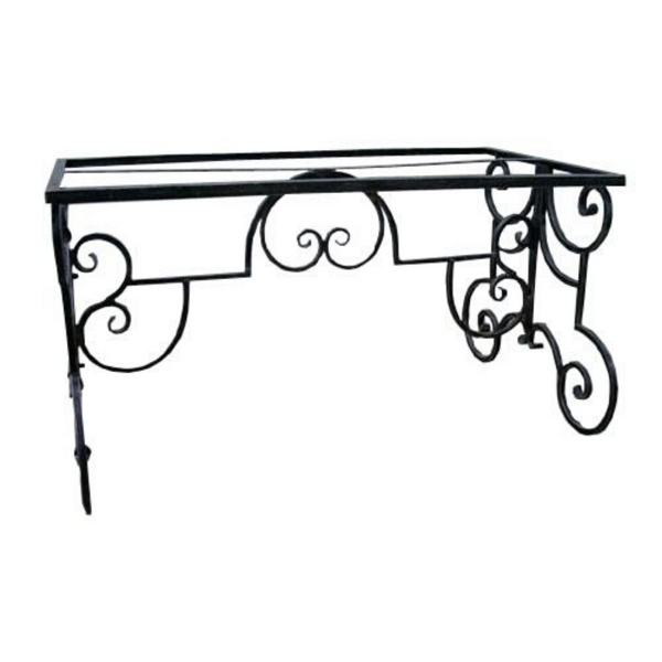 Dining Table base, made from wrought iron, heavy duty