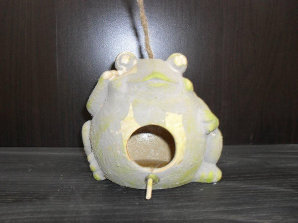 Bird Feeder Frog Hanging Ceramic Garden Decor 15X13.5X13CM