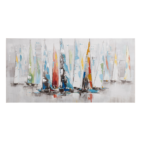 Painting Sailing Print Artwork Stretched Wood Frame
