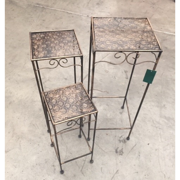 Set of 3, Metal Side Tables, Gatsby - Bronzed Black