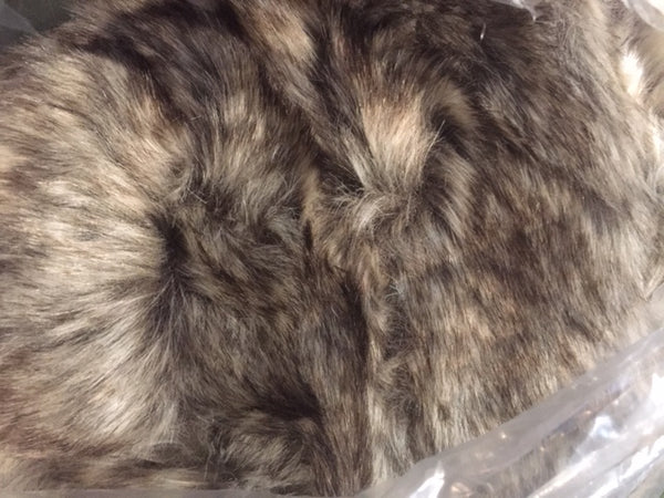 Beanbag Faux Fur Adult Large Chair Greige + Liner  110cm