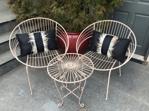 Patio Setting Coffee May 3 Piece Bistro Balcony Metal Garden Furniture Outdoor Home Decor