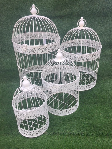 Bird Cages Round Set 4 Cream