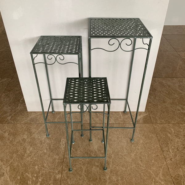 Set of 3, Metal Side Tables, Square - Verdi three different sizes