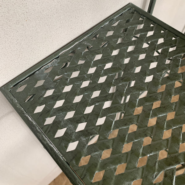 Set of 3, Metal Side Tables, Square - Verdi up close detail