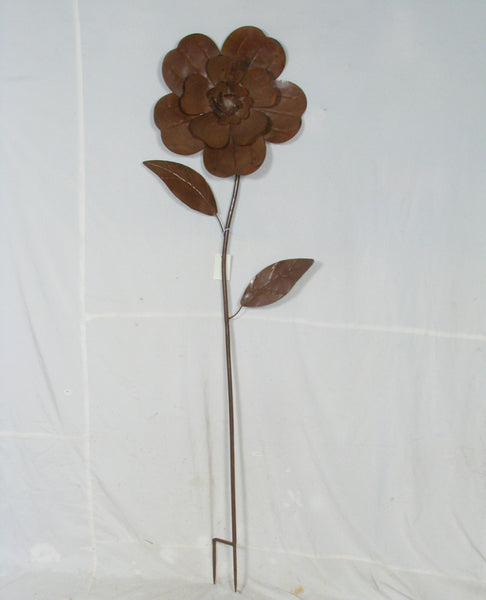 Stake Large Metal Rustic Flower Sculpture Spike Home Garden Decor 46x10x171cm