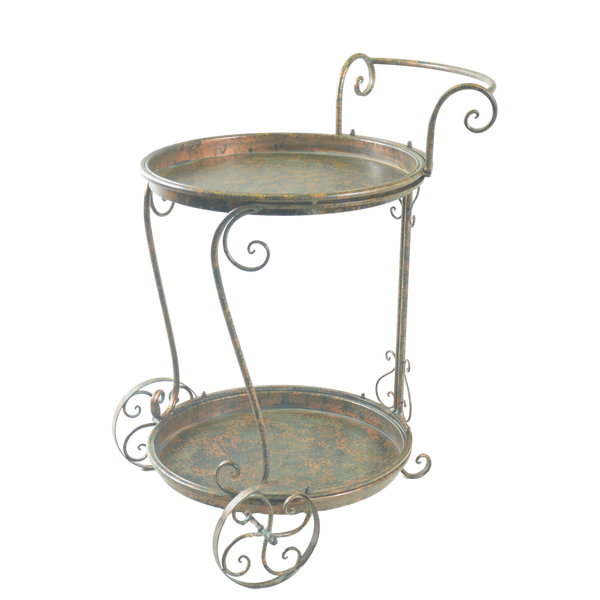 Trolley Drinks | Food Metal in Antique Verdi Bronze