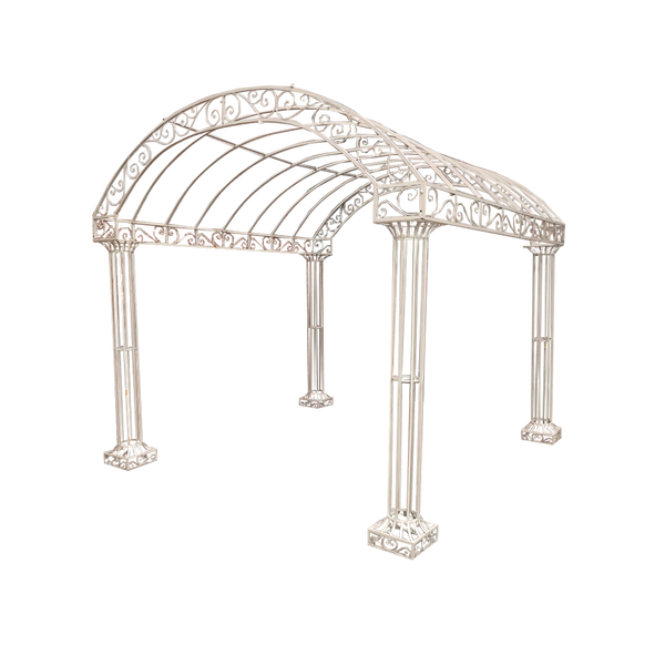 Outdoor Garden Arbour, Gazebo, Arch 3m x 3m made in cream finish.