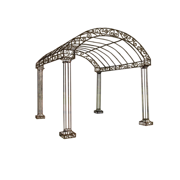 Outdoor Garden Arbour, Gazebo, Arch 3m x 3m made in rusty finish.