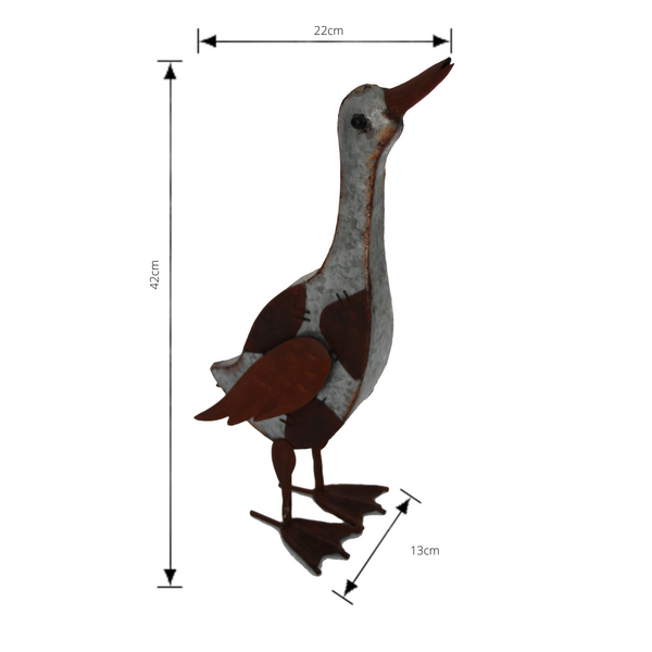 Metal Duck Head Up Art Sculpture with measurements
