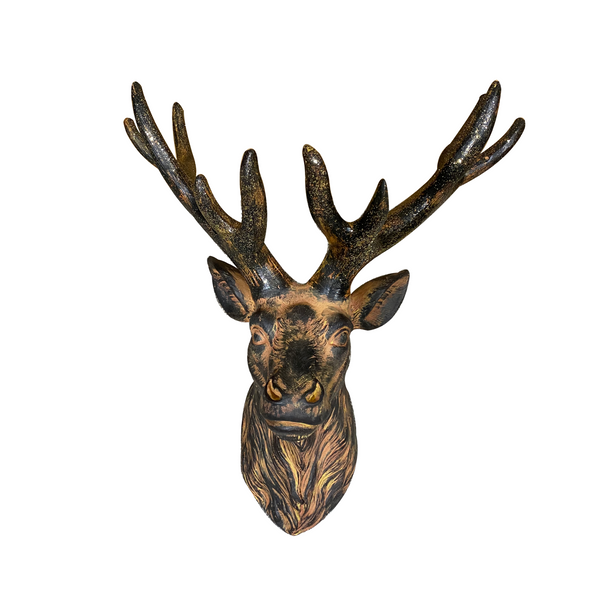 Wall Statue Deer Head Sculpture