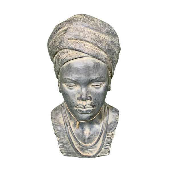 Statue - African Lady Head 2 Bust Sculpture