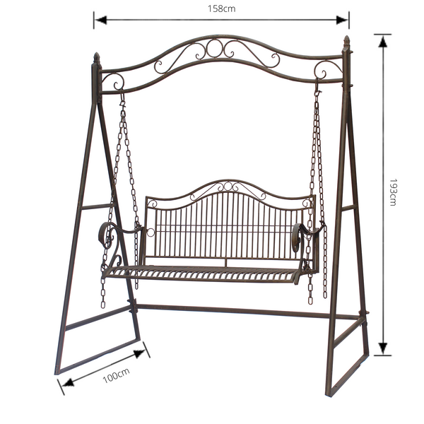 Garden Swing Latina  Rustic Brown