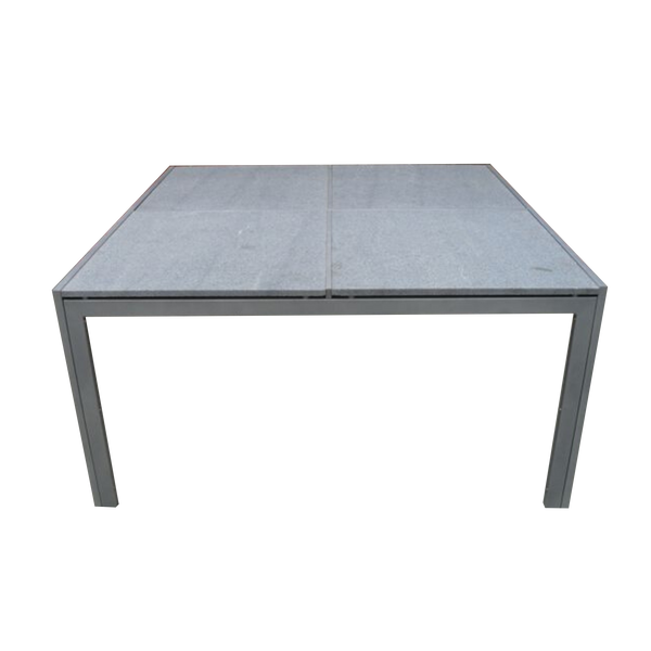 1.5m granite table with galvanised metal base