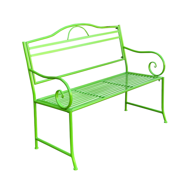 Outdoor garden bench Salsa, Made from metal in lime green colour