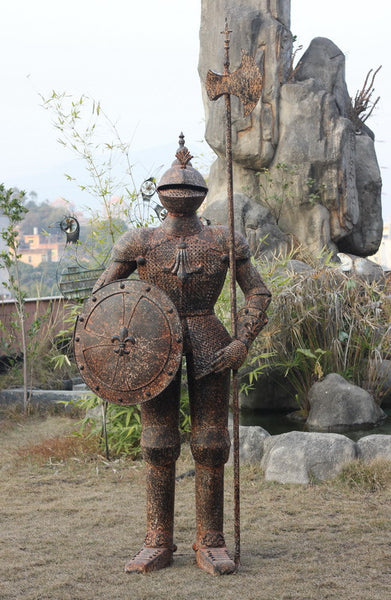 METAL KNIGHT / METAL WARRIOR IN ARMOUR 87X50X245CM