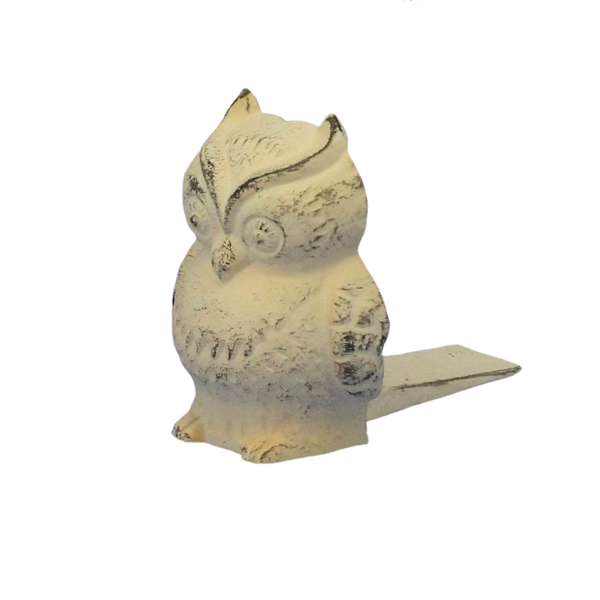 Cast Iron Owl Door Stop Wedge
