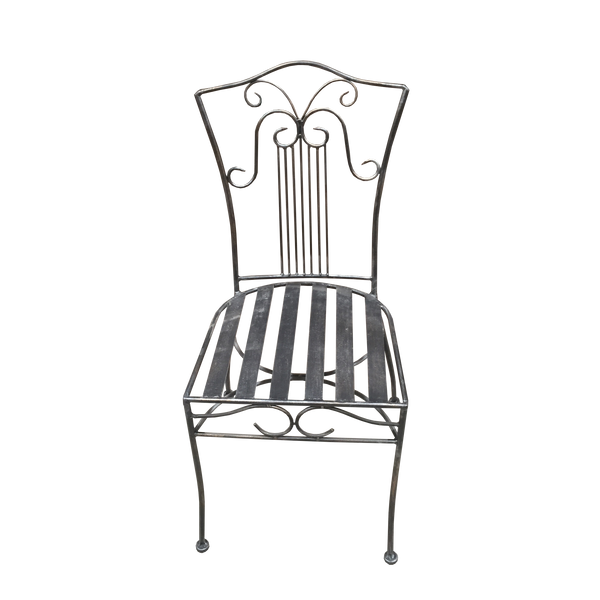 Set of 6 Chair Solid Wrought Iron Standard Sophie Outdoor Weatherproof Garden Dining