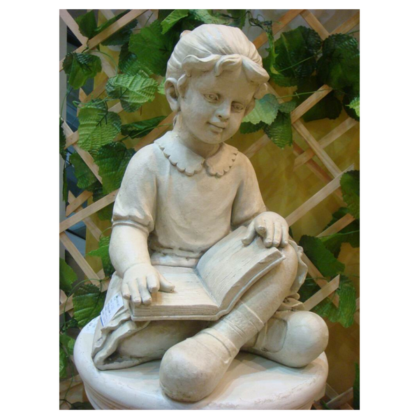 Statue - Girl Reading in the garden