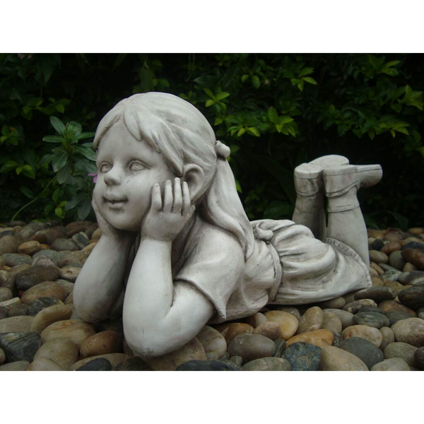 Statue - Girl Thinking in the garden