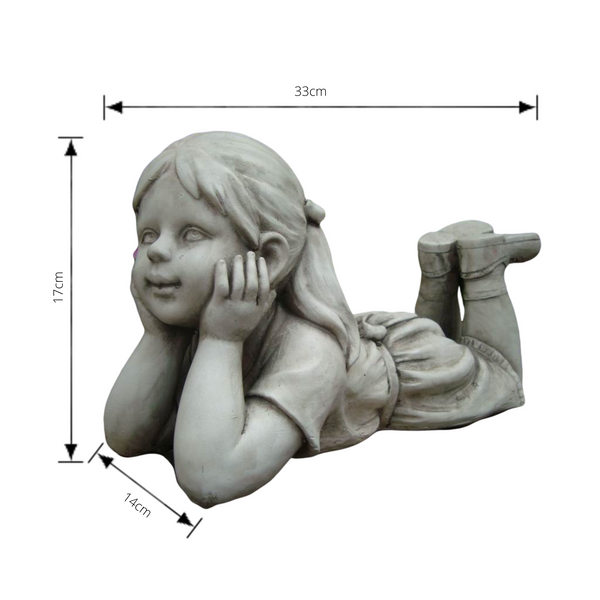 Statue - Girl Thinking with dimensions