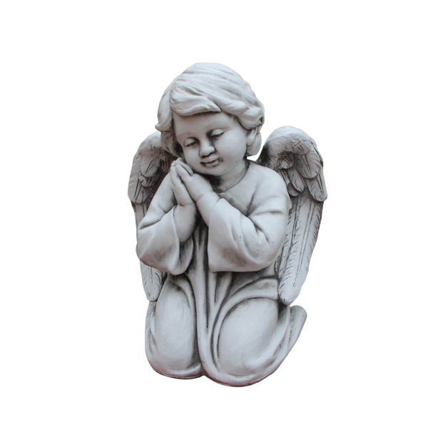 Statue - Angel Cherub Boy Kneeling Sculpture