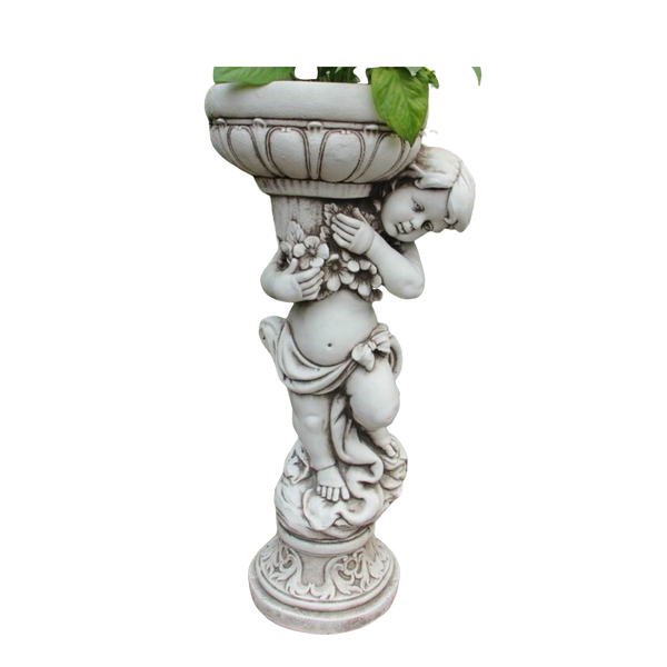 Statue - Boy Flower Pot Plant