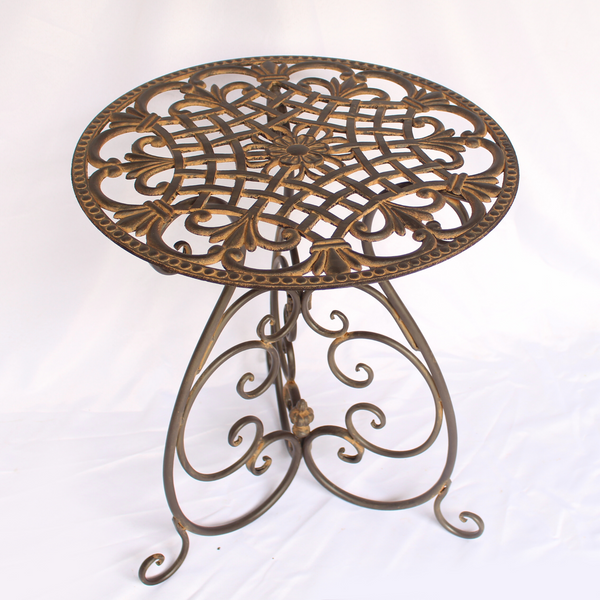 Metal Side Table - Tango Vintage Antique